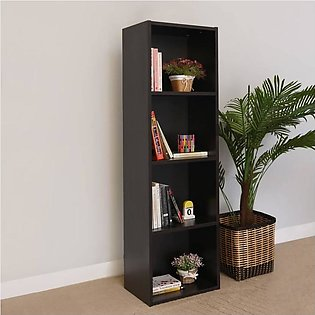 Multipurpose Wooden Book Rack and 4 Layer Book Shelf For Home Decoration (Dark …