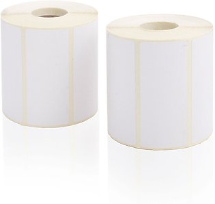 Pack of 2 Roll, Barcode Label Sticker, Size 50mm x 25mm, Single Track