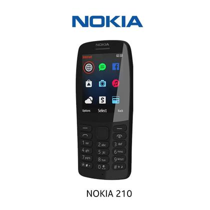 "Nokia 210 - 2.4"" - 16MB RAM- Dual SIM -Camera with Flash"