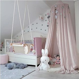 Pink Kids Baby Bedding Round Dome Bed Canopy Netting Bedcover Mosquito Net Decor