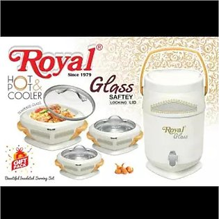 Royal hotpot cooler set glass cover hot and cold 4 piece set