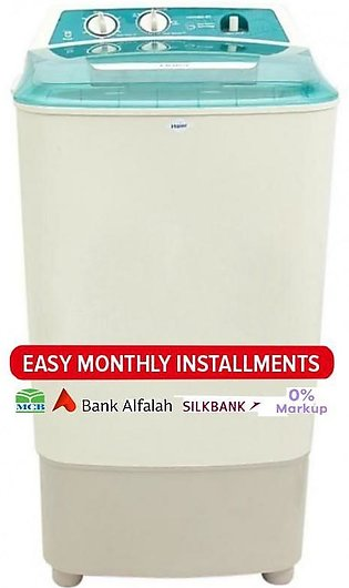 Haier Semi Automatic Washing Machine - HWM 80-60 - Grey & White