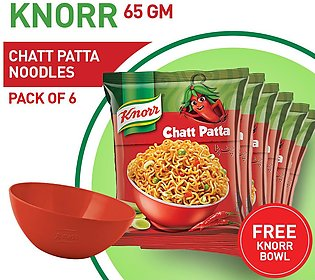 Free Bowl With Pack of Six Noodle Chatpata 65 GM