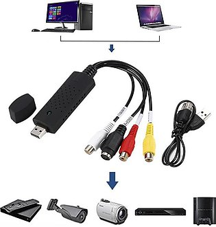 Easycap USB 2.0 Video Capture TV DVD VHS Video DVR Capture Adapter Card with ...