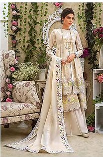 """GA - GUL Ahmed-Eid Collection 2019 Off White Embroided -3PC Unstitched-FE-183-203506"""""""