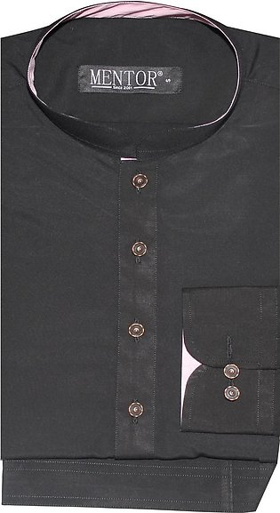 Black Designer Ban collar Kameez Shalwar for Men