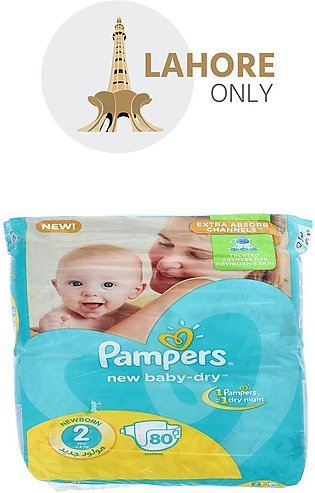 2 Pampers New Born 3-8Kg Mini 80 Diapers