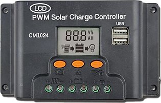 LCD Dual USB Solar Charger Controller 10A 12V/24V Solar Panel Regulator Charge …