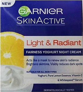 Garnier Light & Radiant Fairness Yoghurt Night Cream-40ml