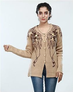 Oxford Acrylic Wool Design Cardigan For Women
