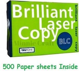 BLC 70 GSM - A4 size Photocopy/ Printer Paper- 1 x Ream (500 Sheets of White Paper)