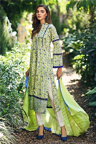 """""""GUL Ahmed-Summer Special Edition 2019 P.Green Lawn-2PC Unstitched-TL-195 A-2..."""