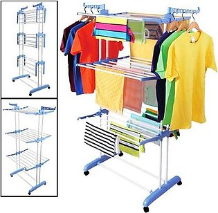 Clothes Line and Drying Racks Cloth Stand Three Layers Spray Painted Cloth Hang…