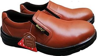 BROWN LEATHER SAFETY SHOES