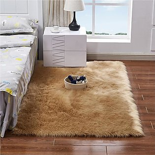 Faux Sheepskin Wool Carpet Rug