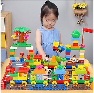 Large Particle Train Building Blocks Number Block Compatible with Legoed Duploe…