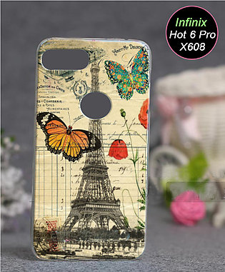 Infinix Hot 6 Pro X608 Pouch Cover (X608) - Eiffal Tower Soft Cover Case for ...