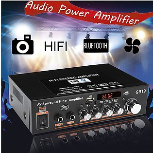 12/220V Bluetooth Stereo Power Amplifier 2 Channel AMP Audio Player Car Home