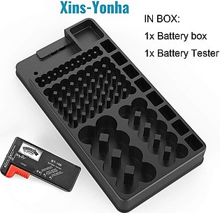 Battery Storage Organizer - Holds 110 Different Size Batteries for Flat Batteri…