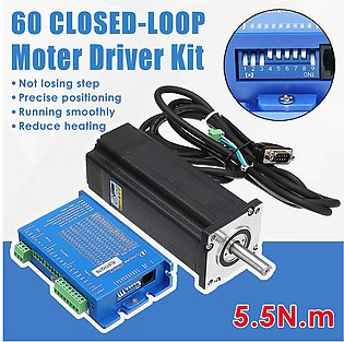 New 2 Phase 60 Closed-loop Stepper Motor 5.5 N.M. Driver Kit LCDA257S+LC60H2127