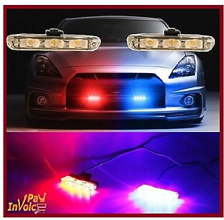 IP Car Front  Grill  Police  Strobe Lights
