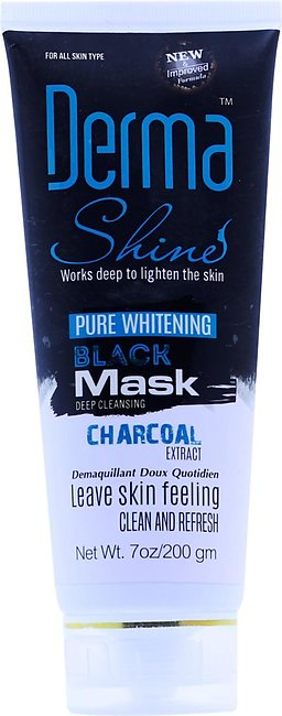 Derma Shine Activated Charcoal Black Mask