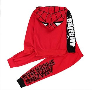 2Pcs Kids Baby Boys Spiderman Hoodie Tracksuit Clothes Coat Top Pant Outfits ...