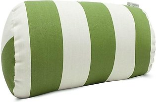 2 High Quality Soft Bed Pillows Round Shape Greem And White Color