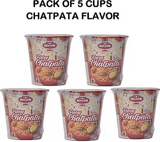 kolson Instant Noodles Cups Pack Of 5 Cups Chatpata Flavor 50 grm each