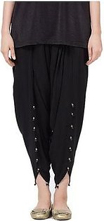 Black Cotton Tulip Shalwar for Women
