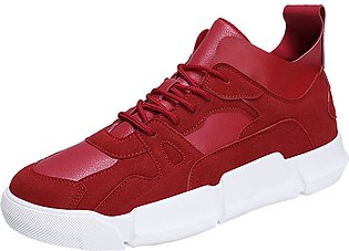 Men Boys Casual Sneakers Sports Running Breathable Flat Patchwork Lace-up Shoes