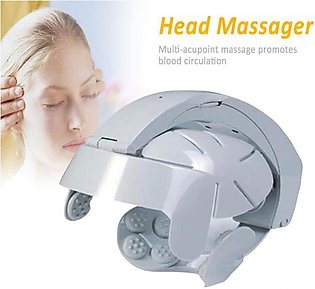 Newly Electric Head Massager Helmet Scalp Brain Relax Vibration Acupuncture Poi…