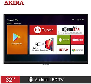AKIRA 32MS106 32 inch Android HD LED TV with Built-in Satellite Receiver & So...