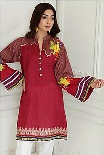 So Kamal Women Summer Collection 2019 Red 1 PCS Pret - Printed Int:XS Lawn Shirt DPL19-532