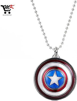 Avengers Captain America Metal Keychain Pendant Key Chains (Silver)