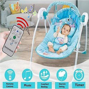 Baby Indoor Swing Infant Electric Intelligent Remote Control Swing Rocking Ch...