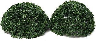【Special Offer】Plastic Green Conifer Topiary Ball Grass Boxwood Hanging Garde...