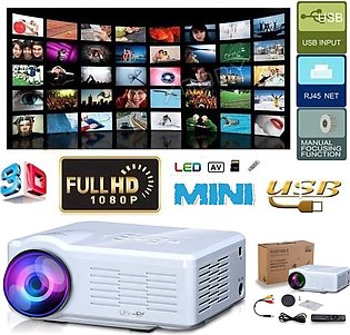 【Special Sale】3D Full HD 1080P Home Theater Projector LED Multimedia USB SD V...