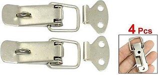 4 Pcs Hardware Cabinet Boxes Spring Loaded Latch Catch Toggle Hasp