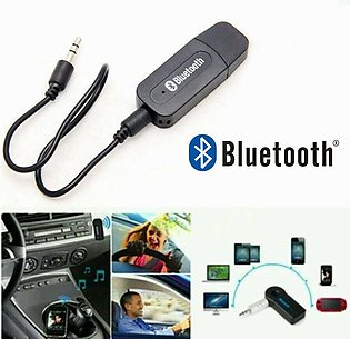 USB Car Bluetooth Receiver AUX Audio BT Music Adapter System For Car