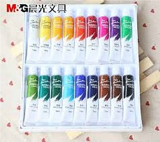M and G Acrylic Paint Pack of 24