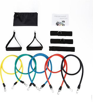 Latex Fitness Training Belt Exercise Stretch Bands Straps Accessories Set