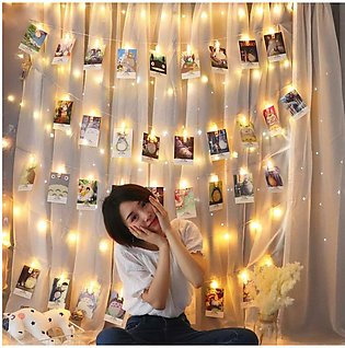 5M 20 Led Photo Peg Clip Led String Fairy Light Wedding Hanging Room Decor