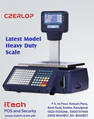 Label and Receipt Printing Weighing Scale