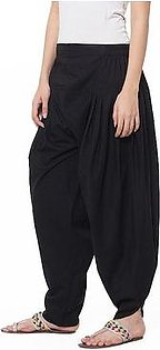 Black Cotton Tulip Shalwar For Women Sunshine