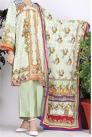 Almirah Summer Collection Vol: 03 CAMBRIC PISTA GREEN Ladies 03 PC Stitched ...