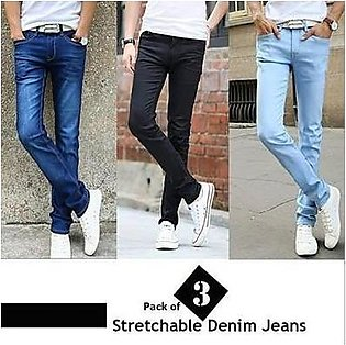 Pack Of 3 Stylish Denim Jeans AW