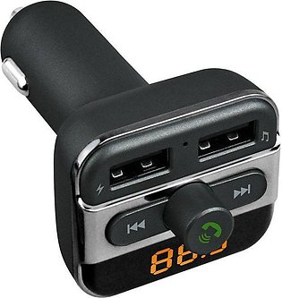 TE 5V 3.4A Dual USB Car Charger Wireless Bluetooth FM Transmitter MP3
