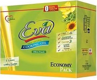 Eva Cooking Oil 1Ltr x 5 Pillow Pouch
