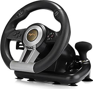 The Old Tree PXN V3II Racing Game Steering Wheel with Foldable Pedal for PC PS3 PS4 Xbox One
